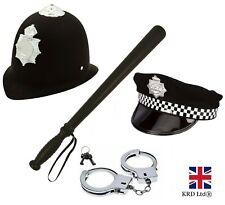 POLICEMAN FANCY DRESS COSTUME ACCESSORY SET Police Officer Kids Boys Man Kit UK