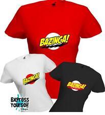 BAZINGA - Big Bang Theory - Sheldon Cooper - WOMENS - Ladyfit - Quality - *NEW*