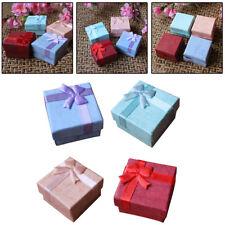 5Pcs Boîte Bijoux Pour Bague Boucles Oreilles Collier Pendentif Rangement Cadeau