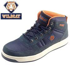 Da Uomo Wildcat S1P in pelle lavoro sicurezza TRAINER Steel Toe Cap Hiker Sneaker Stivali S