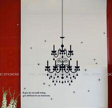 Gran Lámpara De Techo Velas pegatinas de pared de vinilo el arte de la calcomanía Mural Wallpaper
