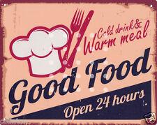 GOOD FOOD METAL SIGN  RETRO VINTAGE STYLE,cafe,bistro,tea room,coffee shop,