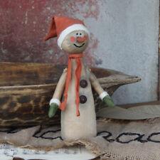 Design Stoffschneemann, orange, grün, rot Mütze Schneemann Weihnacht Handarbeit