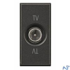 1pz PRESA ANTENNA TV-SAT PASSANTE -10dB COMP. TICINO AXOLUTE SCURA 17-267/07-298