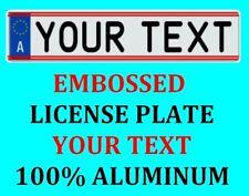Austria Austrian European Euro License Plate Number Plate Custom Text Customized