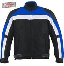 Nexgen 2144 Black Blue Waterproof Reflective Cordura Armored Motorcycle Jacket