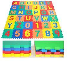 Puzzlematte Kindertepich Schumstoffmatte Buchstabenmatte Spielematte 60tlg 30cm