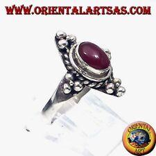 19° Secolo Vittoriano Argento Ovali Corniola Cabochon Antico Fine Jewelry
