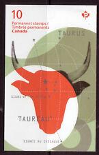 CANADA 2011 TAURUS ZODIAC BOOKLET UNMOUNTED MINT