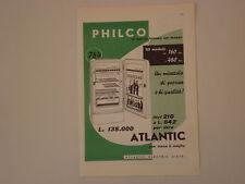advertising Pubblicità 1958 FRIGORIFERO PHILCO ATLANTIC