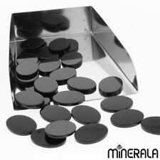 [Großhandel] Natürlich Schwarzer Onyx Oval Flach Top Lose Edelstein Viele Größe