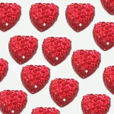 10-40 PCS HEART SHAPE RESIN CABOCHON FLAT FOIL BACK FOR SHIMMER LOOK 10mm C20