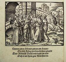 Virgil Solis Cippus corna sulla testa re Ovidio Chalkidiki legno sezione 1563