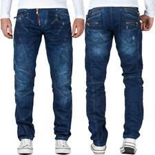 Cipo /& Baxx Uomo Jeans colori attenuati cuciture ornamentali Clubwear Vintage Pantaloni Chino Blu