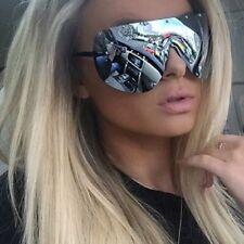 "Sunglasses ""FULL MASK"" Shield MIrror POLARIZED Lens Women  Bolts OWEN RIMLESS"