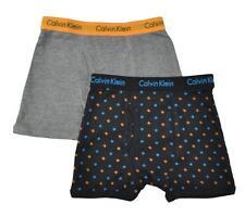 Calvin Klein Boys Gray Black 2pc Boxer Briefs Size 4/5 6/7 8/10 12/14 16/18