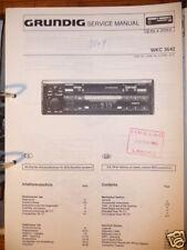 Service Manual Grundig WKC 3642 Autoradio,ORIGINAL