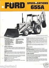 Equipment Brochure - Ford - 655A - Tractor Loader Backhoe c1986 (EB373)