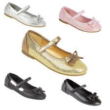 Filles Enfants Demoiselle D'honneur Babies Fête Paillette Chaussures Pointure