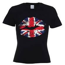 UNION JACK LIPS WOMEN'S T-SHIRT - United Kingdom England Flag Holiday UK GB