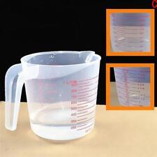 3 Size Clear Plastic Liquid Measuring Scale Cup Jug Pour Beaker For Lab Kitchen.