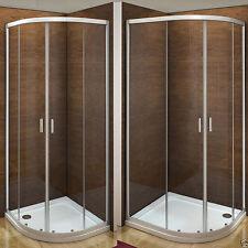 Aica Offset Quadrant Shower Enclosure & Tray Walk In Corner Cubicle Glass Door