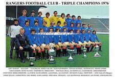 GLASGOW RANGERS FC TEAM PRINTS 1970's (1970/1971/1974/1975/1976/1977/1978/1979)