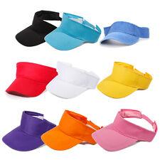Visor Sun Plain Hat Cap Tennis Adjustable Men Women C2A8