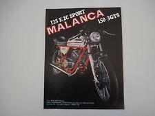 advertising Pubblicità 1978 MOTO MALANCA 125 E 2C E2C SPORT