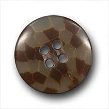 10 tolle braun beige Kunststoff Knöpfe mit Waben Muster wie Schachbrett (2094br)