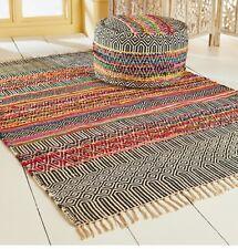 Rishikesh handloom recycled Indoor outdoor Indian rugs 4 sizes
