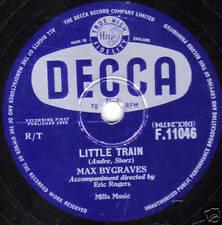 UK #28 MAX BYGRAVES 78 LITTLE TRAIN /GOTTA HAVE RAIN E+