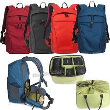 "Waterproof DSLR Camera Bag Backpack Padded Insert 15"" Laptop Bag Rucksack Pouch"