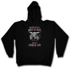 WOLF OF ODIN HOODIE Odin Geri und Freki Thor Walhalla Wolf Wölfe Lamb Lamm