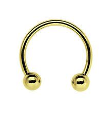 Piercing Circolare Anello filettato placcato oro 1,2mm CBR 6-12mm Misura con