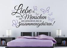 Liebe ist Hochzeit Schlafzimmer Sprüche Deko Wandaufkleber Wandspruch WandTattoo
