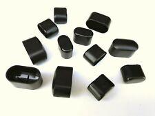 1 bis 20 Stück Kappe für Ovalrohr Tisch Möbegleiter Stuhlbeinkappe 15x30 20x38