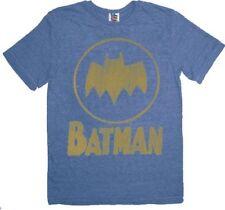 DC Comics TV Show Movies Batman Circle Logo Blue T-shirt Tee