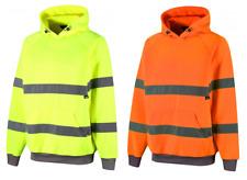Traega TSW13 Premium Hi Vis Safety Hooded Sweatshirt Warm Fleece Lined Hoodie