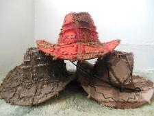 Ragpatch Cowboy Hat CHOOSE LIGHT BROWN , RED , OR DARK BROWN )