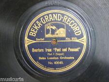78 rpm BEKA LONDON ORCHESTRA popet & peasant overture 1&2 , BEKA 40640