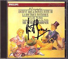 Marriner SIGNED Respighi Ancient Airs & Dance BOUTIQUE FANTASQUE gli uccelli CD