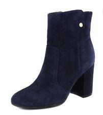 Tommy Hilfiger Women's Blue Natalai Suede Block Heel Bootie Shoes Ret $139 New