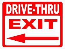 Drive-Thru Exit with Arrow Sign. Inform Patrons Drive Thru Exits. Direction