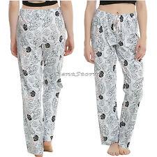 DISNEY Beauty & the Beast Belle Rose BLUE Ladies Jogger Lounge Pants Pajamas NEW