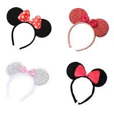 Vestido De Fiesta orejas De Minnie Mouse Alice Pelo Banda Diadema Varios Diseños Elegante Gallina