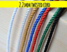 2.2 mm Cuerda torcida Cuerda Trenza Cadena Craft Joyería trencillas tándem 5m - 250m