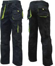 Arbeitshose Bundhose Canvas Worker Arbeitskleidung schwarz-grün Größe 42-68