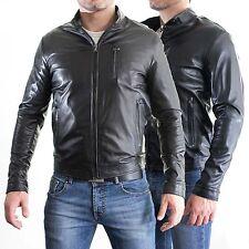 aus Leder 100% o Haut PU Jacke Bomber Mann Männer Leder Jacke G5a-G5b