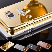 Samsung Galaxy Note 5 Aluminium Spiegel Bumper Case Cover Hülle Panzerglasfolie